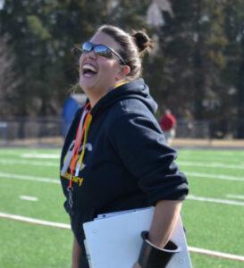 Female rugby coach